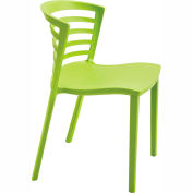 Safco Entourage Resin Stacking Chair Grass Pack of 4 by Stacking Chairs