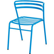 Safco® CoGo™ Indoor/Outdoor Steel Stacking Chair - Blue - Pack of 2