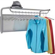 Safco® Impromptu® Coat Wall Rack with Hangers, Gray