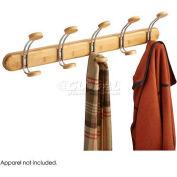 Safco® Bamboo Wall Rack 5 Hook, Natural