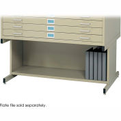 Open Base for 5-Drawer Steel Flat Files - 20H - Fits 40-3/8  x 29-3/8  x 16-1/2 Files - Tropic