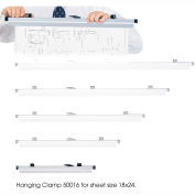 """18"""" Hanging Clamps for 18"""" x 24"""" Sheets - Pkg Qty 6"""