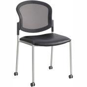 Safco® Diaz Guest Mesh Back Chair - Black Vinyl