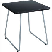 "Safco End Table - 20"" - Black with Silver Frame - Anywhere Series"