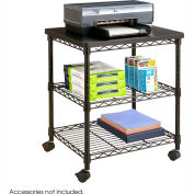 Safco® Products 5207BL Deskside Wire Machine Stand - Black