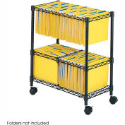Safco® 5278 2-Tier Rolling File Cart