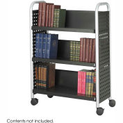 Safco® 5336 Single Sided 3 Shelf Book Cart