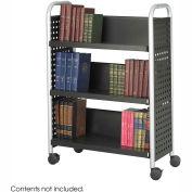 Safco® 5336 Single Sided 3 Shelf Book Cart