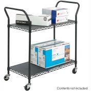 Safco® 5337 2 Shelf Black Wire Utility Cart