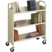 Safco® 5358SA Steel 3-Shelf Single-Sided Book Cart