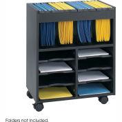 8 Compartment Organizer Cart - Black
