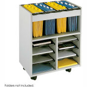 8 Compartment Organizer Cart - Gray