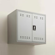 "Mayline® - Safco® Wall Mountable Steel Storage Cabinet 30""W x 18""D x 27"", Gray"