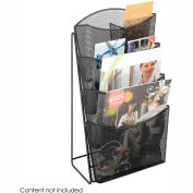 Mesh 4 Pocket Magazine Rack - Black