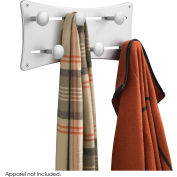 Safco® Adjustable Coat Wall Rack (Qty. 6) - Silver