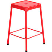 Safco® Steel Stool Standard Height - Red