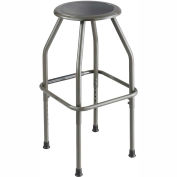 Safco Fixed Height Stool - Steel - Silver