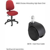 Safco® Hard Casters