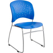 Safco® Rêve™ Guest Chair Sled Base Round Back, Lapis