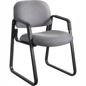 Cava Urth Sled Base Guest Chair, Gray Fabric