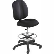Safco Apprentice II Office Stool - Fabric - Extended Height - Black