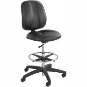 Safco® Apprentice II Office Stool - Vinyl - Extended Height - Black