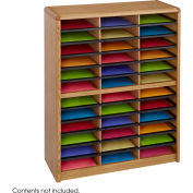 36 Compartment Economy Literature Organizer - Medium Oak