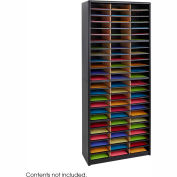 72 Compartment Economy Literature Organizer - Black