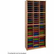 72 Compartment Economy Literature Organizer - Medium Oak