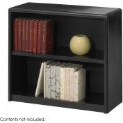 2-Shelf Economy Bookcase - Black