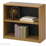2-Shelf Economy Bookcase - Medium Oak