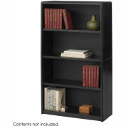 4-Shelf Economy Bookcase - Black