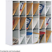 18 Compartment Wooden Mail Sorter
