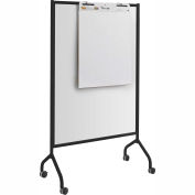 "Safco® Impromptu® Full Whiteboard Screen, 42""W x 72""H, Black"