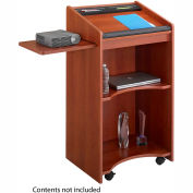 Executive Mobile Podium / Lectern - Cherry