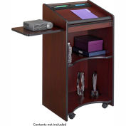 Executive Mobile Lectern - Mahogany