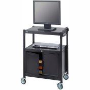 Safco® Steel Adjustable AV Cart With Cabinet