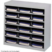 18 Compartment Steel Project Organizer - Gray