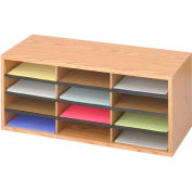 Wood/Corrugated Literature Organizer - 12