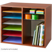 Wood Adjustable Literature Organizer - 12 Compartment