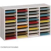 36 Compartment Adjustable Literature Organizer - Gray