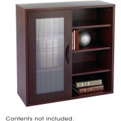 Après™ Modular Storage Single Door/ Open Shelves - Mahogany
