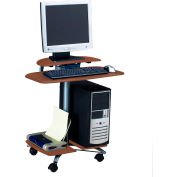Mayline® Eastwinds FPD Computer Table, Medium Cherry