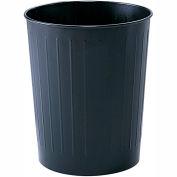 Safco® Round Wastebasket, 23-1/2 Qt. Black Qty 6 - 9604BL