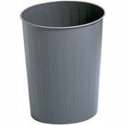 Safco® Round Wastebasket, 23-1/2 Qt. Charcoal Qty.6 - 9604CH