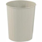 Safco® Round Wastebasket, 23-1/2 Qt.  Sand Qty. 6 - 9604SA