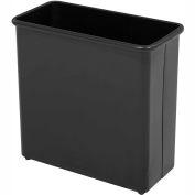 Safco® Rectangular Wastebasket, 27-1/2 Qt. Black Qty.3 - 9616BL