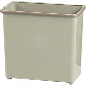 Safco® Rectangular Wastebasket, 27-1/2 Qt. Sand Qty.3 - 9616SA