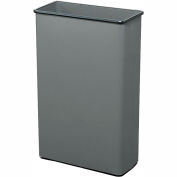 Safco® Rectangular Wastebasket, 88 Qt. Charcoal Qty.3 - 9618CH