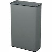 Safco® Rectangular Wastebasket, 88 Qt. Charcoal Qty.3 - 9618CH